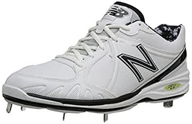 New Balance Men's MB3000 Synthetic Baseball Cleat,White/Black,6 B US