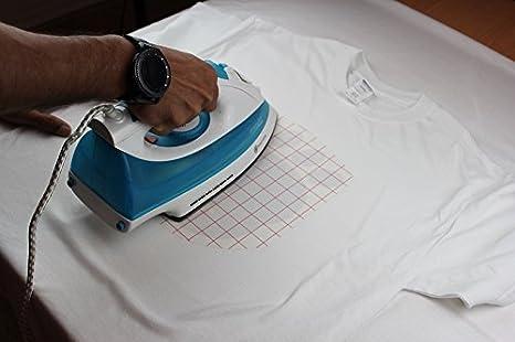 PPD, Inyección de Tinta Papel de Transferencia Para Camisetas de Blancas y Claras A4 X 20 Hojas: Amazon.es: Oficina y papelería