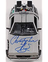 CHRISTOPHER LLOYD SIGNED BACK TO THE FUTURE 2 1:24 DELOREAN BECKETT WITNESS COA