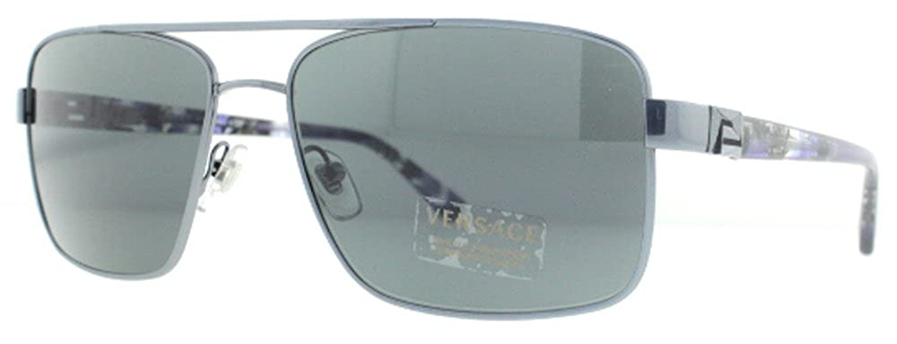 f890d33b6a Amazon.com  Versace VE2141 Sunglasses-1326R8 Azure (Azure Lens)-58mm   Versace  Clothing