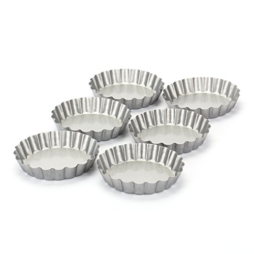 Tosnail Non-Stick 4 Inch Round Mini Tart/Quiche Pan, 4-Inch Diameter, Set of 6 (Quiche Springform Pan)