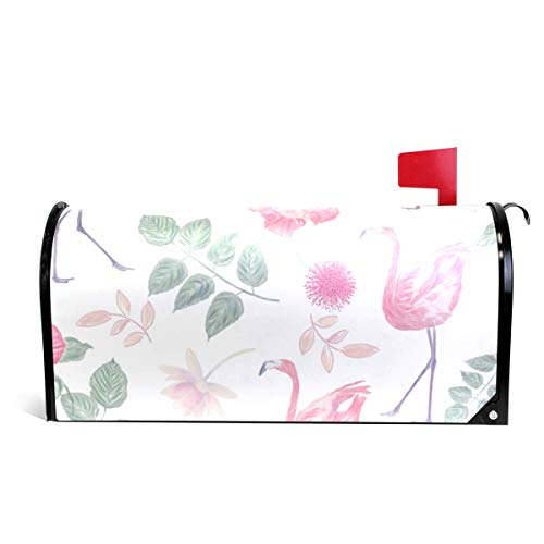 CiCily Magnetic Mailbox Cover Red Flower Flamingos Decoration for House Garden by CiCily