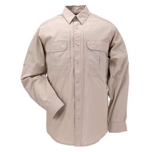 (5.11 Tactical TacLite Professional Long Sleeve Tall EDC Shirt , TDU Khaki, X-Large)