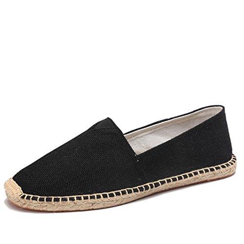 Mocasines de Hombre para Zapatos Lona para Mocasines Zapatos Hombre Zapatos Alpargatas para Deslizamiento Black Hombres Respirables Hombres primaverales Hombre qwwORfn8