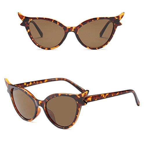 Lunettes Cadre Zhhlaixing Eyeglasses Protection Brown UV400 Classique Élégant de Lunettes Soleil Femmes Lunettes Star fppIHq