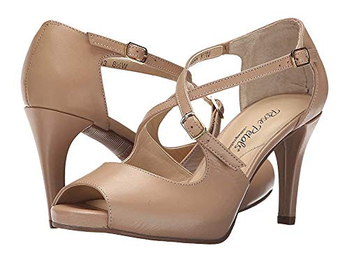 Rose Petals Women's Lissa Dress Pump, Nude, 9 2W US