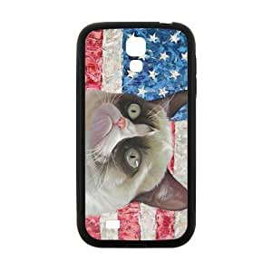 SANLSI Grumpy Cat American Flag Cell Phone Case for Samsung Galaxy S4