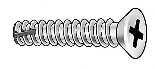 5/8'' 410 Stainless Steel Thread Cutting Screw with Flat Head Type; PK100 - pack of 5
