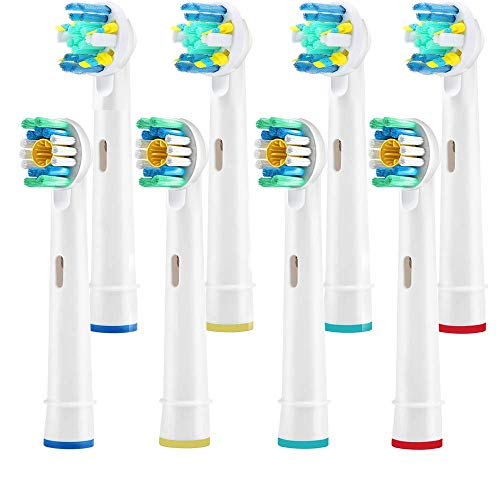 Ksera Electric Toothbrush Replacement Heads 8Pack for Oral-B Electric Toothbrush,Assorted Replacement Heads with Functions of Remove Plaque and Decreases Gingivitis