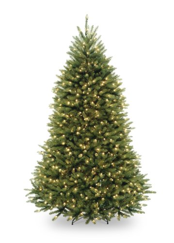 National Tree 6.5 Foot Dunhill Fir Tree with 650 Clear Lights, Hinged (DUH-65LO) (With Christmas Lights Tree 6.5)