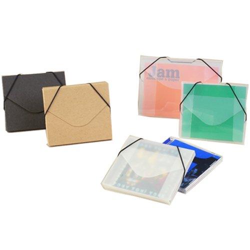 JAM Paper Plastic Index Card Case with Elastic Closure - 5 1/2 x 7 1/2 x 3/8 - Clear - 100/pack