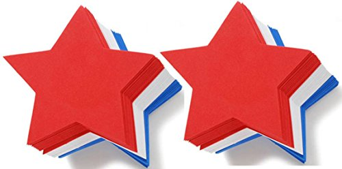 Foam Star (Set of 70 Large Foam Red, White, and Blue Stars)