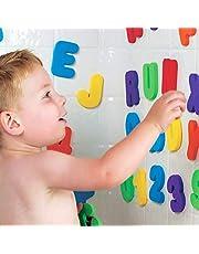 Sahgsa Badspeelgoed, badspeelgoed, geschikt voor kinderen, babyletters van het alfabet, letters, schuim, perfect om te spelen en te leren