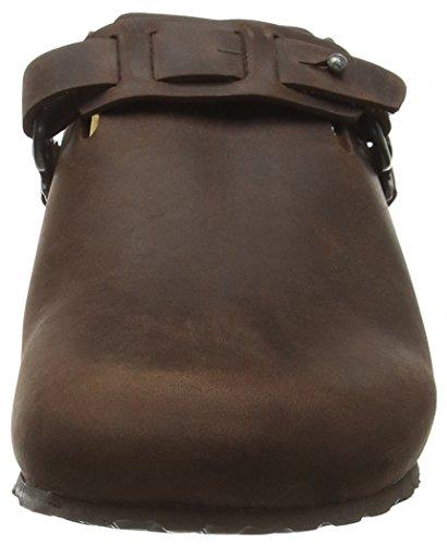 Birkenstock Dana Leder, Zuecos para Mujer Marrón - marrón