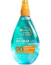 Garnier Ambre Solaire Spray Protezione Solare, Acqua Solare Protettiva UV Arricchita con Aloe Vera, IP20, 150 ml