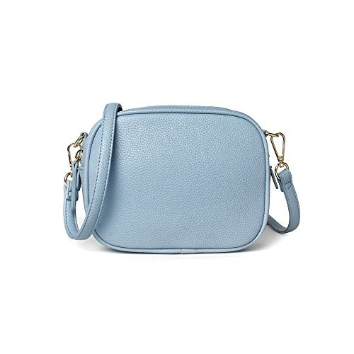 S Kaiko PU Leather Shoulder Bag Mini Hand Bag for Women and Girls Crossbody Hand Bag Tote Bag(light blue)