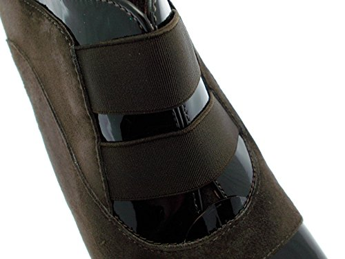 Scarpa donna art Y5559 accollato zeppa marrone