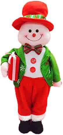 Minibaby 20inch Cute Christmas Doll Snowman and Santa Claus Standing Model