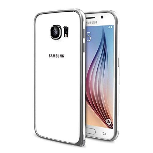 [Mikobox Edition] Baseus Samsung Galaxy s6 Beauty Arc Case Ultra-thin Aluminum Metal Bumper Hard Frame Cover (silver)