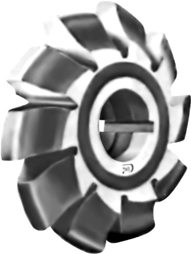 F & D 공구 회사 12867 인볼루트 기어 밀링 커터 고속 강철 폼 안심 14 1   2 도 압력 각도 7 커터 번호 6 각진 피치 1 1   4 구멍 크기 3 1   2 직경