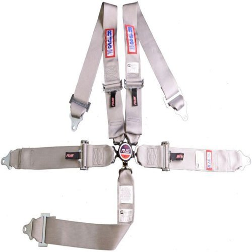 R.J.S. Safety Equipment 1032507 5-Point Cam-Lock Racing Harness Grey