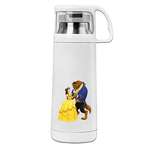 [Bekey Beauty And The Beast Stainless Steel Vacuum Travel Mug With Handle Cup Water Bottle] (Lightning Strike Costume)