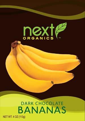 Next Organic Dark Chocolate Bananas (6x4oz)