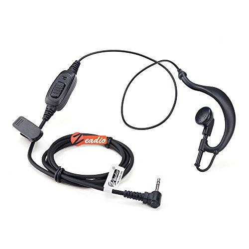 Zeadio ZP-AR098 G Shape Earpiece Headset PTT for 1 PIN HYT H