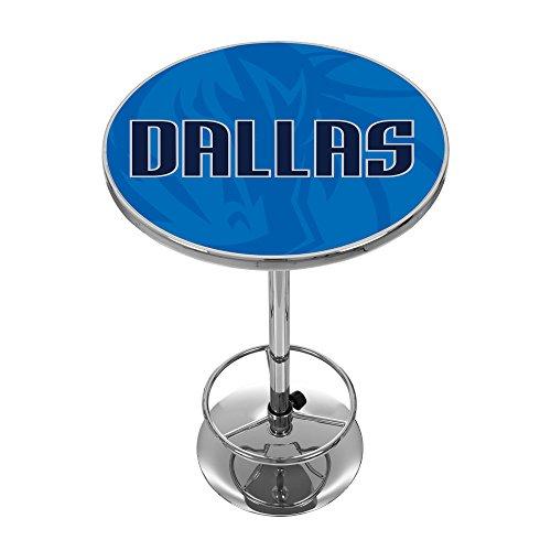 Trademark Gameroom NBA2000-DM2 NBA Chrome Pub Table - Fade - Dallas Mavericks