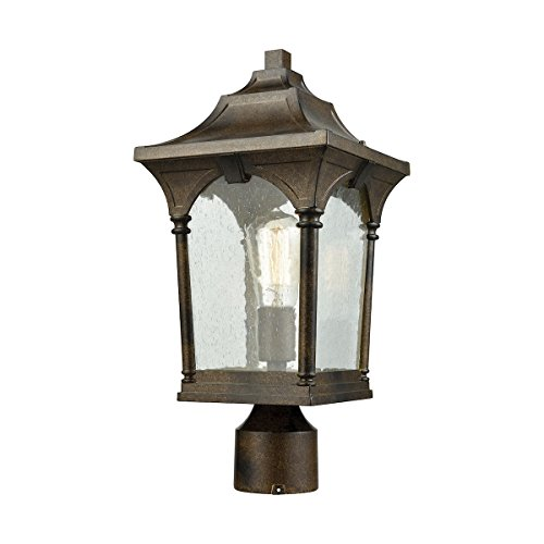 Elk 45048/1 Loringdale Outdoor Post, 1-Light 100 Watts, Hazelnut Bronze by ELK