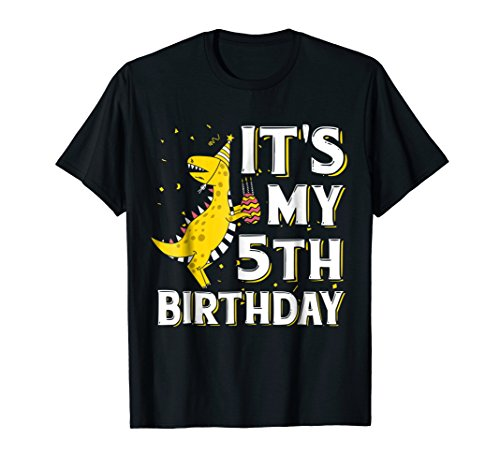 It's My 5th Birthday Shirt Dinosaur Party for 5 year old boy -