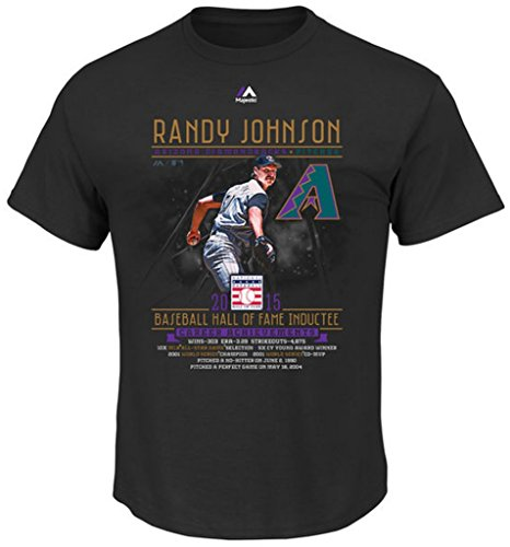 Majestic Athletic Arizona Diamondbacks MLB Mens Randy Johnson Hall Of Fame Shirt Big & Tall Sizes (6XL)