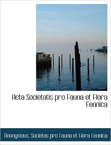 Téléchargements gratuits Acta Societatis pro Fauna et Flora Fennica en français PDF DJVU FB2