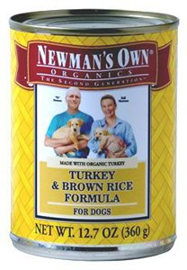 Newman's Own Organics Canned Dog Food Turkey & Rice 12.7 oz Case 12