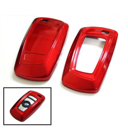 iJDMTOY Exact Fit Gloss Metallic Red Smart Key Fob Shell For BMW 1 2 3 4 5 6 7 Series X3 Bmw 5 Series Car Cover