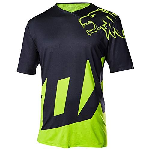 Wisdom Leaves Men's Cycling Jersey Short Sleeve Mountain Bike Shirt MTB Jersey Moisture-Wicking T-Shirt