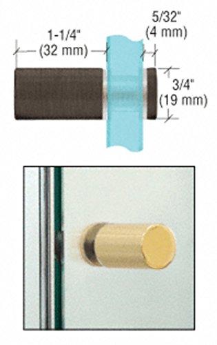 C.R. LAURENCE SDK212BBRZ CRL Brushed Bronze Cylinder Style Single-Sided Shower Door - Cr Laurence Shower