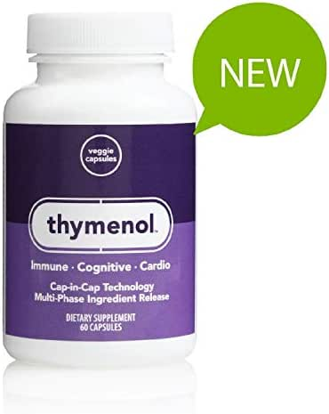 Thymenol, Supports Cardiovascular Health, Maintains Normal Blood Pressure & Normal Levels of Cholesterol, Supports Memory & Cognition, Promotes Healthy Immune Cell Activity, Market America 30 Servings