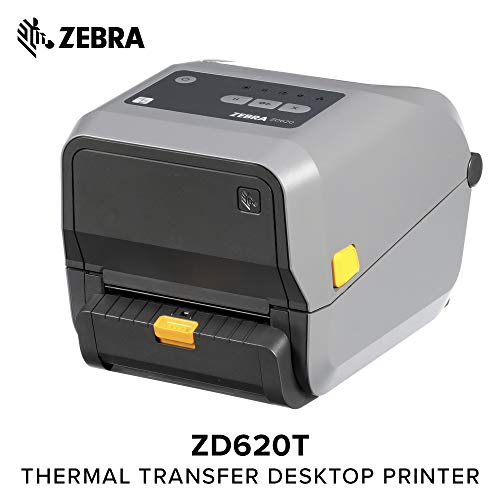 Zebra - ZD620t Thermal Transfer Desktop Printer for Labels and Barcodes - Print Width 4 in - 203 dpi - Interface: Bluetooth LE, Ethernet, Serial, USB - Peeler Preinstalled - ()