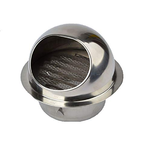Bewox 4 inch Air Vent Ventilation Grille Cover Stainless Steel Ducting External Extractor Wall Vent with Fly Screen Mesh