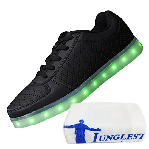 [+Kleines Handtuch]Kinderschuhe USB Lade Licht Jungen emittierende Schuhmädchenschuh leuchtende LED beleuchtete Sportschuhe großer Junge Sc c15