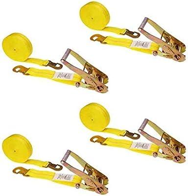 us cargo control 2 x 8 ratchet strap w short wide ratchet flat