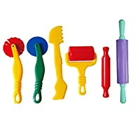 Bhbuy 6pcs/Set Art Clay and Dough Playing Tools Set Cutting Craft Kits for Children Ages 3 and Up