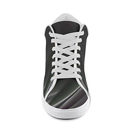 Artsadd Artsdd Personnalisé Bonjour Pédales Violet Chukka Chaussures En Toile Pour Les Femmes (model003)