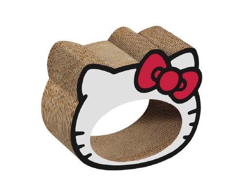 Hello Kitty White Eco Cardboard Cat Scratcher with Catnip