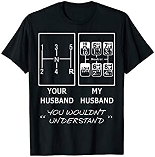 Cool gift Your Husband My Husband 18 Speed Trucker Funny  Women Long Sleeve Funny Shirt / Navy / S - 5XL