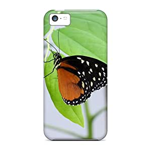 Cute Appearance Cover/tpu AGB2837goWY Butterfly Wds Case For Iphone 5c