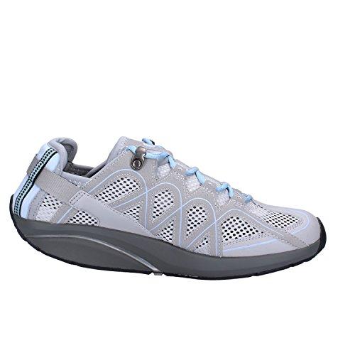 MBT Sneakers Donna 38 EU Grigio Tessuto Pelle