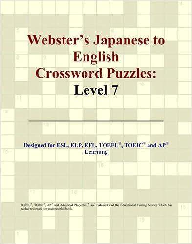 Amazon lädt Audio-Bücher herunter Webster's Japanese to English Crossword Puzzles: Level 7 auf Deutsch PDF ePub MOBI