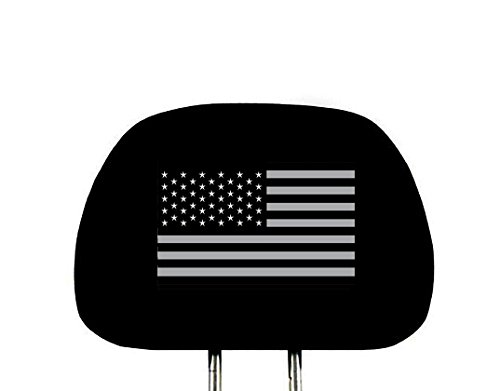 (Yupbizauto New Interchangeable Car Seat Headrest Cover Universal Fit for Cars Vans Trucks - One Piece (American Flag))
